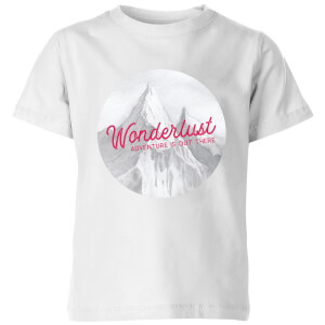 Mountain Wonderlust Adventure Is Out There Kids' T-Shirt - White