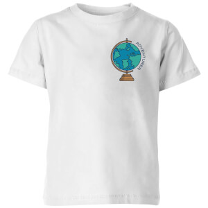 Globe Adventurer Pocket Print Kids' T-Shirt - White