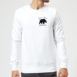 Born To Roam Adventure Pocket Print Sweatshirt - White