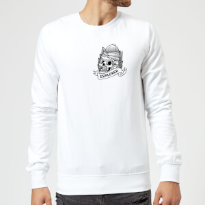 Explorer Skull Pocket Print Sweatshirt - White