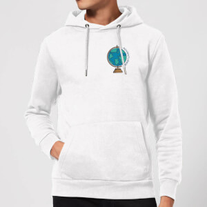 Globe Adventurer Pocket Print Hoodie - White