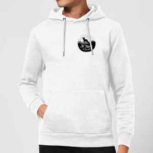 Black To Travel Is To Live Pocket Print Hoodie - White