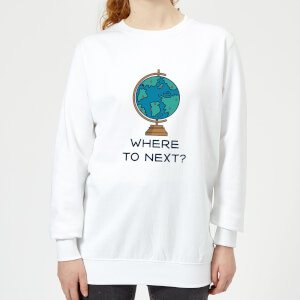 Globe Where To Next? Women's Sweatshirt - White