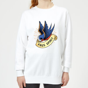 Swallow Free Spirit Women's Sweatshirt - White