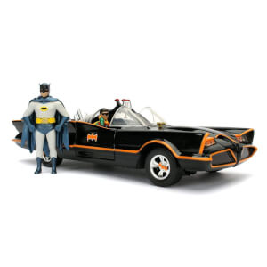 Jada Die Cast 1:24 1966 Batmobile with Diecast Batman and Robin