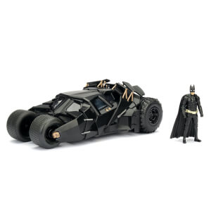 Jada Die Cast 1:24 2008 Batmobile with Diecast Batman