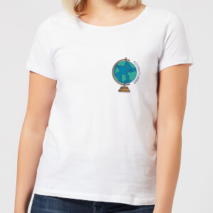 Globe Adventurer Pocket Print Women's T-Shirt - White