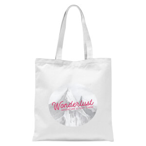 Mountain Wonderlust Adventure Is Out There Tote Bag - White