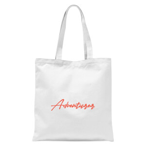 Adventurer Script Tote Bag - White