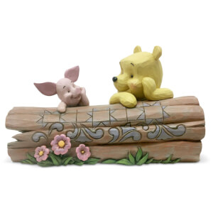 Disney Traditions - Truncated Conversation (Pooh and Piglet on a Log Figurine)