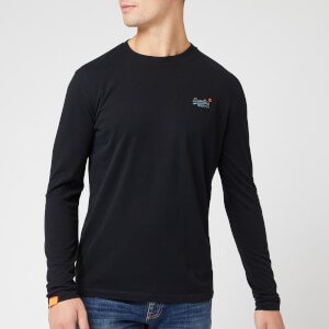 Superdry Men's O L Vintage Embroidery Long Sleeve T-Shirt - Black