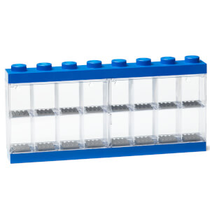 LEGO Mini Figure Display (16 Minifigures) - Blue