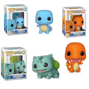 Kanto Starter Pokemon Funko Pop! Vinyl Collection