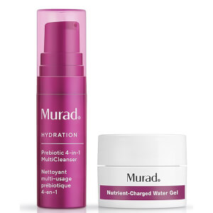 Murad Prebiotic Cleanser and Water Gel Duo (Worth $12.00)