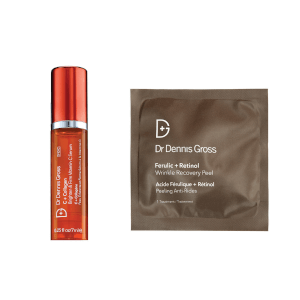 Dr Dennis Gross Recovery Peel and Brighten Serum Duo (Free Gift)