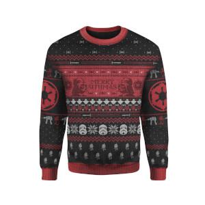 Zavvi Exclusive Star Wars Merry Sithmas Xmas Knitted Jumper - Black