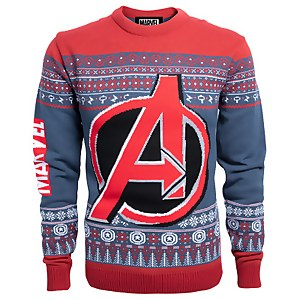 Marvel Avengers Christmas Knitted Jumper - Navy