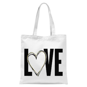 Love Tote Bag - White