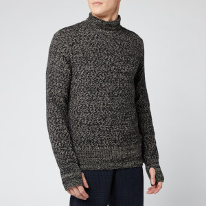 Oliver Spencer Men's Talbot Roll Neck Knitted Jumper - Black