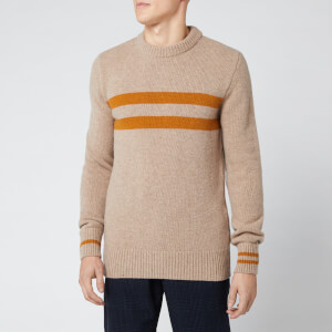 Oliver Spencer Men's Blenheim Crew Knitted Jumper - Barisan Beige