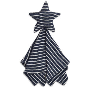 aden + anais Snuggle Knit Star Lovey - Navy Stripe