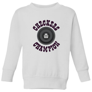 Checkers Champion Black Checker Kids' Sweatshirt - White