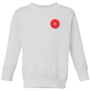 Red Checker Pocket Print Kids' Sweatshirt - White