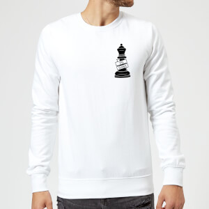Queen Chess Piece Yas Queen Pocket Print Sweatshirt - White