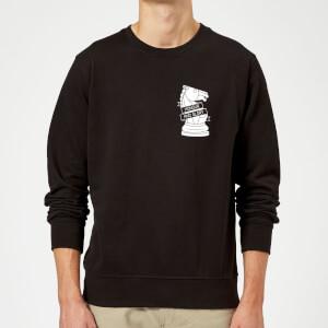 Honour And Glory Pocket Print Sweatshirt - Black