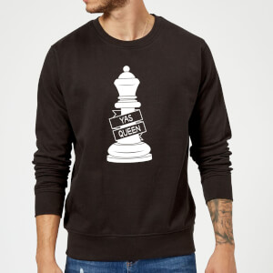 Queen Chess Piece Yas Queen Sweatshirt - Black