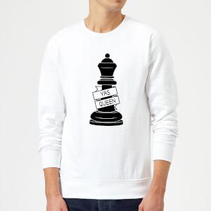 Queen Chess Piece Yas Queen Sweatshirt - White