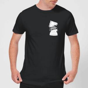 Honour And Glory Pocket Print Men's T-Shirt - Black