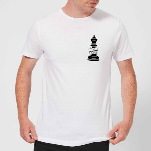 Queen Chess Piece Yas Queen Pocket Print Men's T-Shirt - White