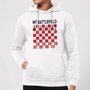 My Battlefield Chess Board Red & White Hoodie - White