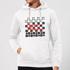 Checkers Board Champion Hoodie - White