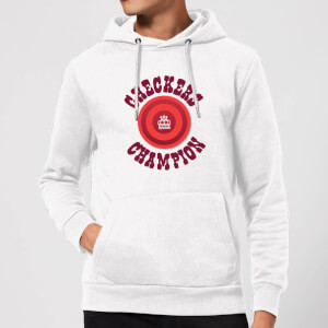 Checkers Champion Red Checker Hoodie - White