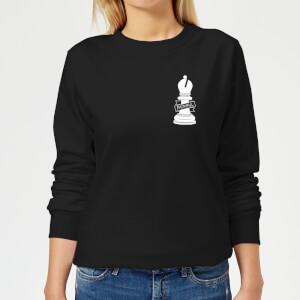 Faithful Pocket Print Women's Sweatshirt - Black