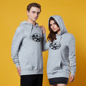Batman Logo with Grapple Hoodie - Grey