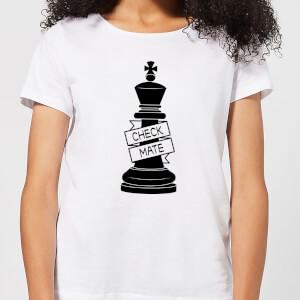 King Chess Piece Check Mate  Women's T-Shirt - White