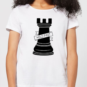 Rook Chess Piece Hold Fast Women's T-Shirt - White