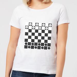 Playing Checkers Board Women's T-Shirt - White