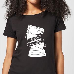 Knight Chess Piece Women's T-Shirt - Black