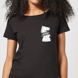 Honour And Glory Pocket Print Women's T-Shirt - Black