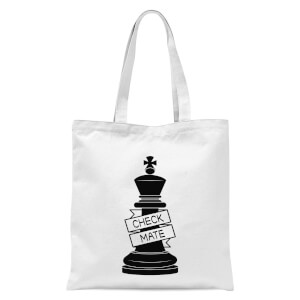 King Chess Piece Check Mate  Tote Bag - White