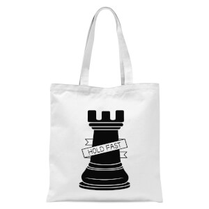 Rook Chess Piece Hold Fast Tote Bag - White
