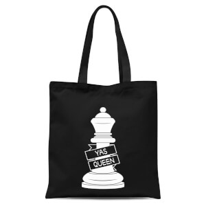 Queen Chess Piece Yas Queen Tote Bag - Black