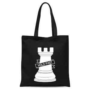 Rook Chess Piece Tote Bag - Black
