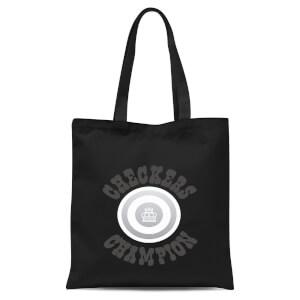 Checkers Champion White Checker Tote Bag - Black