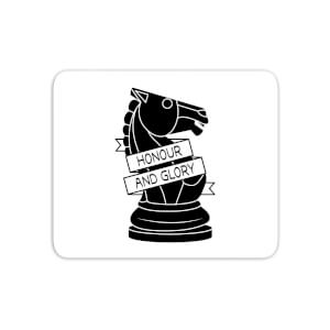 Knight Chess Piece Honour And Glory Mouse Mat