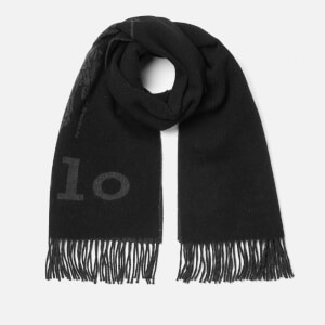 Polo Ralph Lauren Men's Oversized Logo Scarf - Black/Charcoal